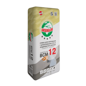 Кладочная смесь Anserglob ВСМ-12 пено- газобетон